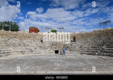 Amphitheatre, excavation site, Kourion, Cyprus, Amphitheater, Ausgrabungsstaette, Zypern - Stock Photo