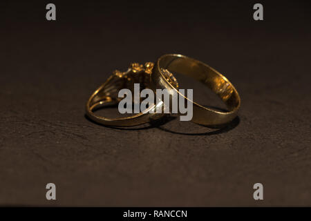 Wedding rings in close up - Stock Photo