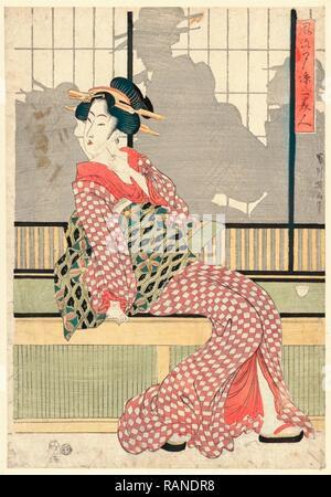 Furyu Yusuzumi San Bijin, Updated Version of Three Beauties Enjoying the Evening Cool. [Between 1807 and 1820], 1 reimagined - Stock Photo