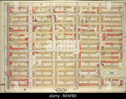 Brooklyn, Vol. 3, Double Page Plate No. 29, Part of Ward 28, Section 11, Map bounded by Palmetto St., Knickerbocker reimagined - Stock Photo