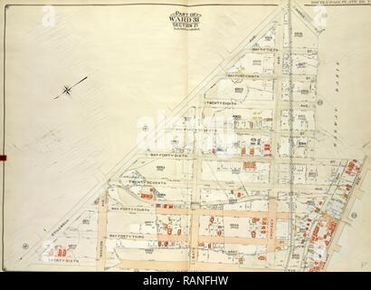 Brooklyn, Vol. 7, Double Page Plate No. 24, Part of Ward 31, Section 21, Map bounded by Stillwell Ave., Including reimagined - Stock Photo