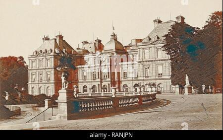 Exterior of the Palais du Luxembourg in Paris, France, Anonymous, 1878 - 1890. Reimagined by Gibon. Classic art with reimagined - Stock Photo