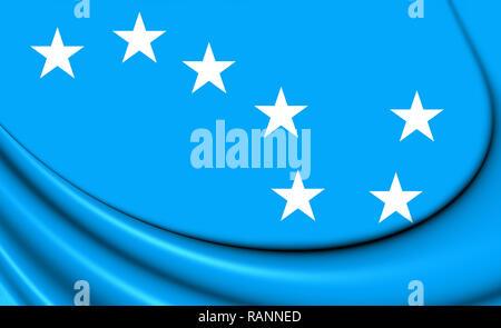 3D Starry Plough Flag. 3D Illustration. - Stock Photo