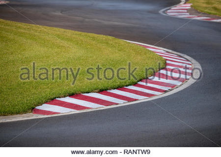 karts circuit curve as a concept of difficulty, effort and new challenges - Stock Photo
