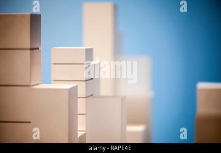 Business Concept Architecture Scale Model Building for Presentations - Stock Photo