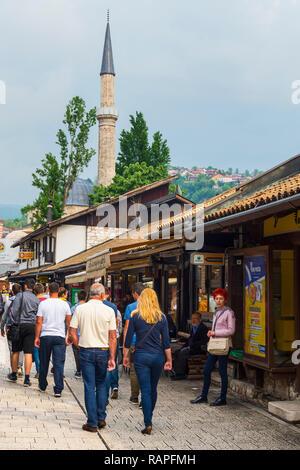 Bascarsija old bazar, Sarajevo, Bosnia and Herzegovina - Stock Photo
