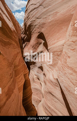 Zebra Slot Canyon in Grand Staircase-Escalante National Monument in Utah - Stock Photo