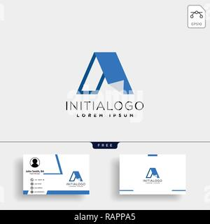letter A creative logo template with business card template
