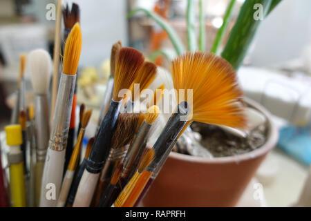 Art Object Paint Brush Equipment in Art School
