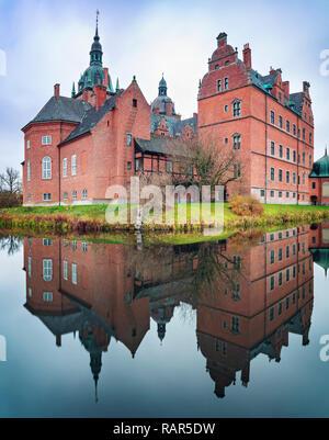 Medieval castle of Vallo in Denmark. - Stock Photo