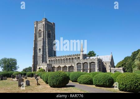 St Peter and St Paul's Church, Church Street, Lavenham, Suffolk, England, United Kingdom - Stock Photo