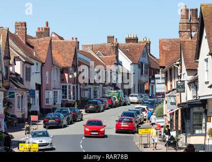High Street, Lavenham, Suffolk, England, United Kingdom - Stock Photo
