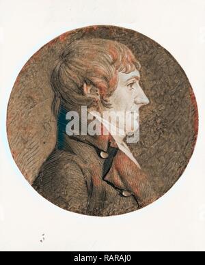 [William Plumer, head-and-shoulders portrait, right profile], Saint-Mémin, Charles Balthazar Julien Fevret de, 1770- reimagined - Stock Photo