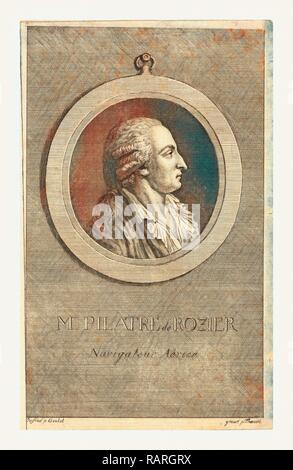 M. Pilatre de Rozier, aeronaut by p. Goulet, engraved by p. Thoenert. Reimagined by Gibon. Classic art with a modern reimagined - Stock Photo