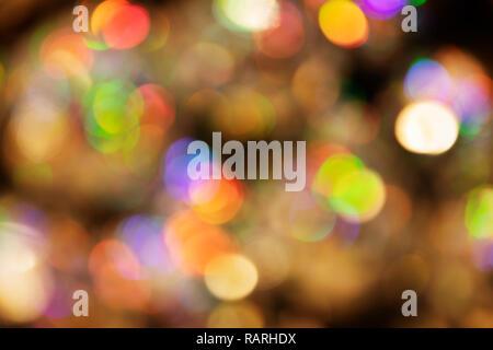 defocused pattern of lights with bokeh - Stock Photo