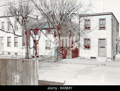 Lancaster, Pennsylvania - Housing. Low-priced houses - silk and linoleum workers - rental below $20.00, 1936, Lewis reimagined - Stock Photo