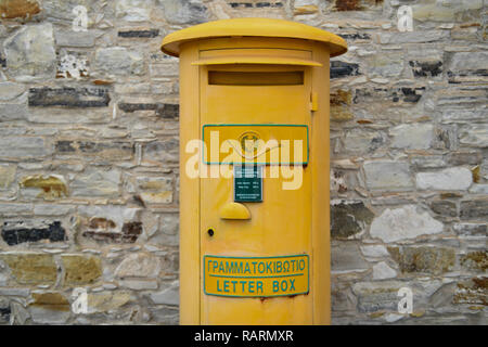 Mailbox, Pano Lefkara, republic Cyprus, Briefkasten, Republik Zypern - Stock Photo