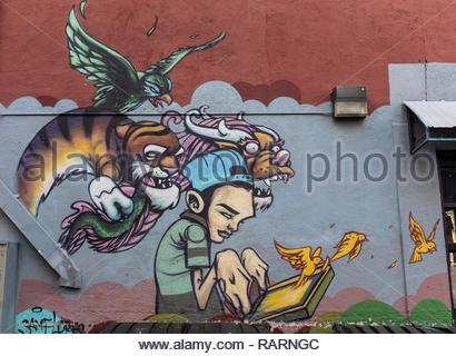 Silkscreen Kid By Sam Flores Wall Mural In Downtown Albuquerque