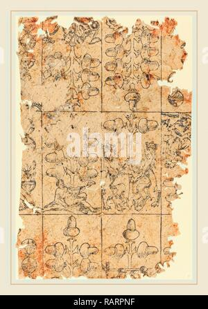 German 16th Century, Playing Card, woodcut. Reimagined by Gibon. Classic art with a modern twist reimagined - Stock Photo