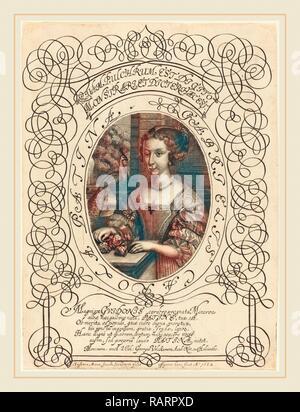 Susanne Maria von Sandrart (German, 1658-1716), Gabrielle Carola Patina, c. 1682, engraving. Reimagined - Stock Photo