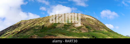 Kualoa mountain range panoramic view, famous filming location on Oahu island, Hawaii - Image - Stock Photo