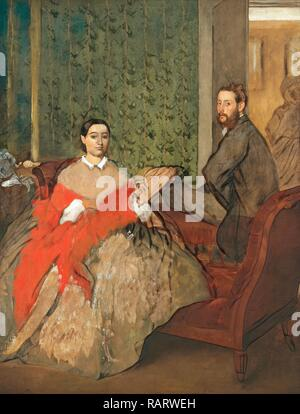 Edgar Degas (French, 1834-1917), Edmondo and Thérèse Morbilli, c. 1865, oil on canvas. Reimagined by Gibon. Classic reimagined - Stock Photo
