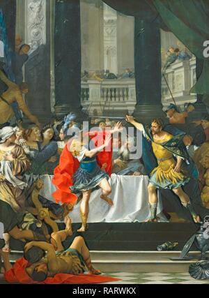 Donato Creti, Alexander the Great Threatened by His Father, Italian, 1671-1749, probably 1700-1705, oil on canvas reimagined - Stock Photo
