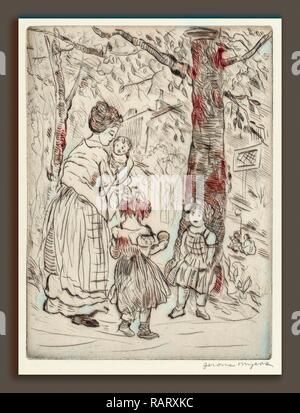Jerome Myers, Springtime, American, 1867 - 1940, c. 1919, drypoint . Reimagined by Gibon. Classic art with a modern reimagined - Stock Photo