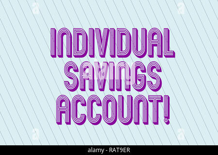 Handwriting text Individual Savings Account. Concept meaning Savings account offered in the United Kingdom Blank Pastel Rectangle with Diagonal Seamle - Stock Photo