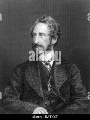 EDWARD BULWER-LYTTON (1803-1873) English writer and politician - Stock Photo