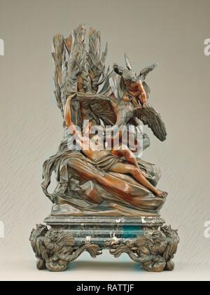 Leda and the Swan, Massimiliano Soldani-Benzi, Italian, 1656 - 1740, Italy, Europe, designed before 1717, cast about reimagined - Stock Photo