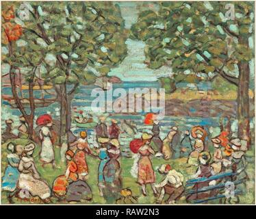 Maurice Brazil Prendergast, Salem Cove, American, 1858-1924, 1916, oil on canvas. Reimagined by Gibon. Classic art reimagined - Stock Photo