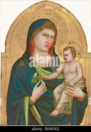 Giotto, Italian (probably 1266-1337), Madonna and Child, probably 1320-1330, tempera on panel. Reimagined - Stock Photo
