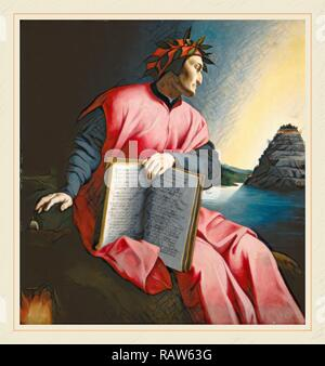 Florentine 16th Century, Allegorical Portrait of Dante, late 16th century, oil on panel. Reimagined by Gibon. Classic reimagined - Stock Photo