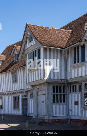 16th century Guildhall of Corpus Christi, Market Square, Lavenham, Suffolk, England, United Kingdom - Stock Photo