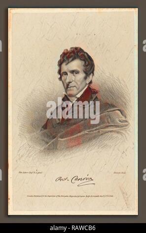 James Thomson possibly after John Jackson (British, 1789 - 1850), Antonio Canova, published 1822, stipple engraving reimagined - Stock Photo