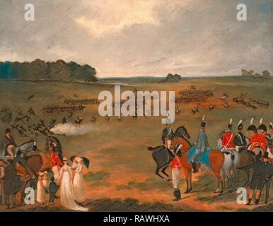 A Review of the London Volunteer Cavalry and Flying Artillery in Hyde Park in 1804 A Review of a Yeomanry Regiment of reimagined - Stock Photo