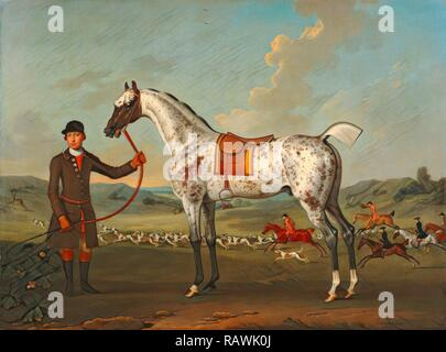 Scipio, a spotted hunter, the property of Colonel Roche Scipio, Colonel Roche's Spotted Hunter Scipio, property of reimagined - Stock Photo