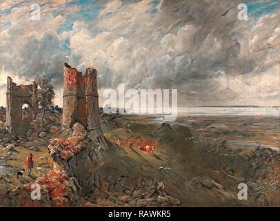 Hadleigh Castle, The Mouth of the Thames--Morning after a Stormy Night Hadleigh Castle, John Constable, 1776-1837 reimagined - Stock Photo