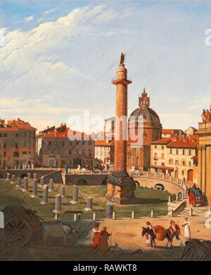 A View of Trajan's Forum, Rome, Italy Charles Lock Eastlake, 1793-1865, British. Reimagined by Gibon. Classic art reimagined - Stock Photo