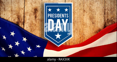 Composite image of presidents day icon - Stock Photo