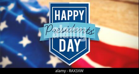 Composite image of happy presidents day - Stock Photo
