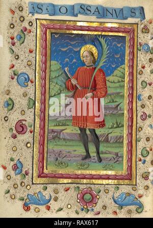 Saint Ossanus, Guglielmo Giraldi, Italian, active 1445 - 1489, Ferrara, Italy, Emilia-Romagna, Europe, about 1469 reimagined - Stock Photo