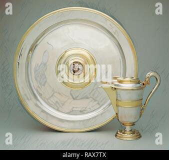 Ewer and Basin, Abraham Pfleger I, German, died 1605, active from 1558, n.d., Gold and silver, Various, see reimagined - Stock Photo