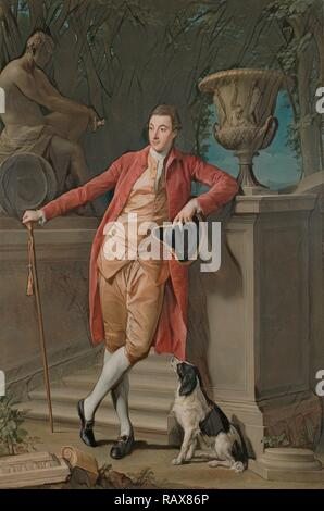 Portrait of John Talbot, later 1st Earl Talbot, Pompeo Batoni, Italian (Lucchese), 1708 - 1787, Italy, Europe, 1773 reimagined - Stock Photo