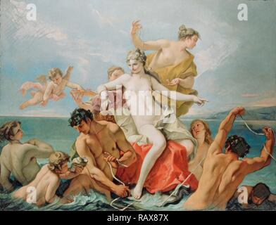 Triumph of the Marine Venus, Sebastiano Ricci, Italian, 1659 - 1734, about 1713, Oil on canvas, Unframed: 160 x 210.8 reimagined - Stock Photo