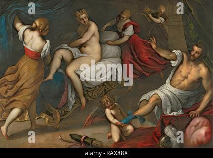 Venus and Mars, Palma il Giovane, Italian (Venetian), 1544 - 1628, about 1605 - 1609, Oil on canvas, Unframed: 142.9 reimagined - Stock Photo
