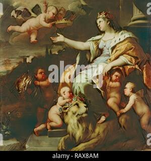 Allegory of Magnanimity, Luca Giordano, Italian (Neapolitan), 1634 - 1705, about 1670, Oil on canvas, Unframed: 180.3 reimagined - Stock Photo
