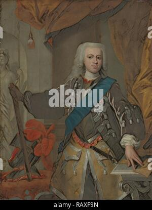 Portrait of William IV, Prince of Orange, attributed to Hans Hysing, 1730 - 1753. Reimagined by Gibon. Classic art reimagined - Stock Photo