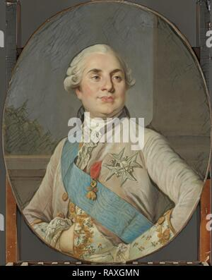 Portrait of Louis XVI, King of France, workshop of Joseph Siffrède Duplessis, c. 1777 - c. 1789. Reimagined - Stock Photo